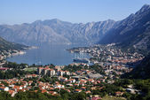 Kotor old town and Boka Kotorska bay, Montenegro — Stock Photo