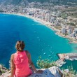 Stock Photo: Coastline of MediterraneResort Calpe, Spain with Seand Lake