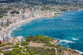Coastline of Mediterranean Resort Calpe, Spain with Sea and Lake — Stock Photo
