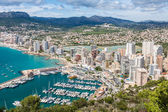 High angle view of the marina in Calpe, Alicante, Spain — Stock Photo