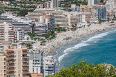 Coastline of Mediterranean Resort Calpe, Spain with Sea and Lake — Stock Photo