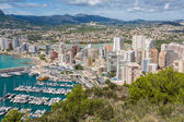 High angle view of the marina in Calpe, Alicante, Spain — Stockfoto