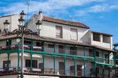 Belangrijkste vierkante, toeristische dorp in madrid provincie, chinchon, Spanje — Stockfoto