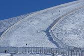 Slope on the skiing resort in the navacerrada madrid,spain — Stock Photo