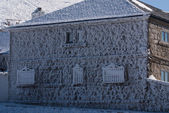 Winter in the mountain navacerrada madrid,spain, — Stock Photo