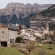 Stock Photo: Mountain Town, Torla, Pyrenees, Ordesy Monte Perdido National