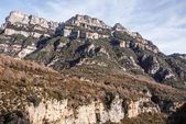 Pinnacles in Anisclo Valley, Ordesa National Park, Pyrenees, Hue — Stock Photo
