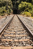 Low-speed railway. Also available in developing countries. — Stock Photo