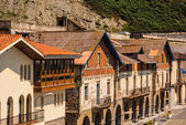 View of the old street and buildings Getaria, Spain, Europe — Stockfoto