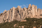 Montserrat mountain, where you can see the Cavall Bernat, the la — Stock Photo