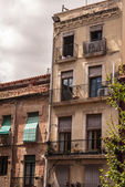 View of architecture building in old town of Tarragona, Spai — Stock Photo