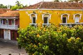 Spanish colonial house. Cartagena de Indias, Colombia's Caribbea — Stock Photo