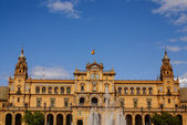 Spanish Square (Plaza de Espana) in Sevilla, Spain — Stok fotoğraf