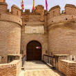 Stock Photo: Castle of the mota in medina del campo,valladolid,spain