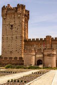 Castle of the mota in medina del campo,valladolid,spain — Stock Photo