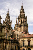 Cathedral of Santiago de Compostela The Romanesque facade  — Stock Photo