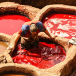 Stock Photo: Fez, Morocco. tannery souk of weavers is most visited pa