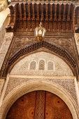 Detalj av vackra kakel mosaik dekoration av den på fez, mo — Stockfoto