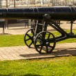Stock Photo: Old cast-iron cannon
