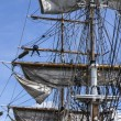 Stock Photo: Large mast of old sailing ship