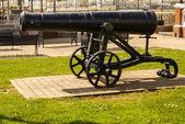 Viejo cañón de hierro fundido — Foto de Stock