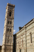 Bell tower and dome of the cathedral of Florence, Italy — Stockfoto