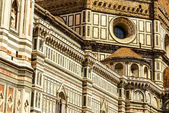 Ornate facade of the Duomo of Florence, Italy — Stock Photo