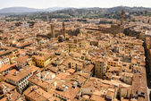 Top view from Campanile Giotto on the historical center of Flore — Stock Photo