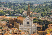 Florence, Italy: panoramic view from the top of Duomo church — Stock Photo