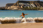 Playa de Amadores, Puerto Rico, Gran Canaria — Stock Photo