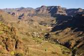 Beautiful mountain scape panorama in Gran Canaria, Spain — Stock Photo