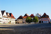 Town Square of Slovakian Bardejov — Stock Photo