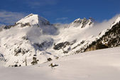 Panoramic view, south side, of massif of Maladeta in the Pyrenee — Stock Photo