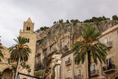 Medieval Norman Cathedral-Basilica of Cefalu,sicilia,italy — Stock Photo
