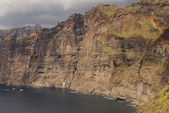 View of Los Gigantes cliffs. Tenerife, Canary Islands, Spain — 图库照片