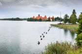 Beautiful Medieval Trakai Castle in an Island in the Lake — Stock Photo