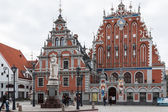 "Riga - capital of Latvia. Old city, ""Blackheads house"" — Stock Photo"