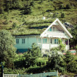 Norwegian typical grass roof country house — Stock Photo #45770887