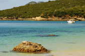 Beach bay in Portinho da Arrabida, Portugal — Stock Photo
