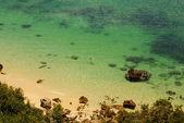 Praia de baía no portinho da arrábida, portugal — Fotografia Stock