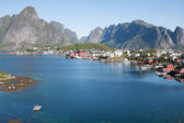 Scenic town of Reine on Lofoten islands in Norway — Stock Photo