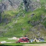Traditional norwegian colorful houses ,Lofoten islands, Norway — Stock Photo #46164155