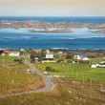 Traditional norwegian colorful houses ,Lofoten islands, Norway — Stock Photo #46165995