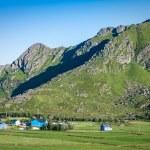 Traditional norwegian colorful houses ,Lofoten islands, Norway — Stock Photo #46166273