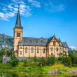 Picturesque Lofoten cathedral on Lofoten islands in Norway — Stock Photo #46167897