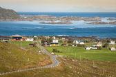 Traditional norwegian colorful houses ,Lofoten islands, Norway — Stock Photo