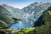 Geiranger fjord panoramic view,Norway — Stockfoto