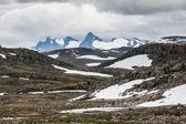 Veobrean gletscher gesehen vom glittertind mountain (jotunheimen nat — Stockfoto