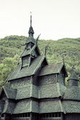 Borgund Stave church. Built in 1180 to 1250, and dedicated to th — Stock Photo
