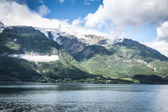 Sognefjord view on a cloudy day, Norway — Stock Photo